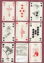 Collectible  playing cards. 5 jaar Limburg collectors. 1990